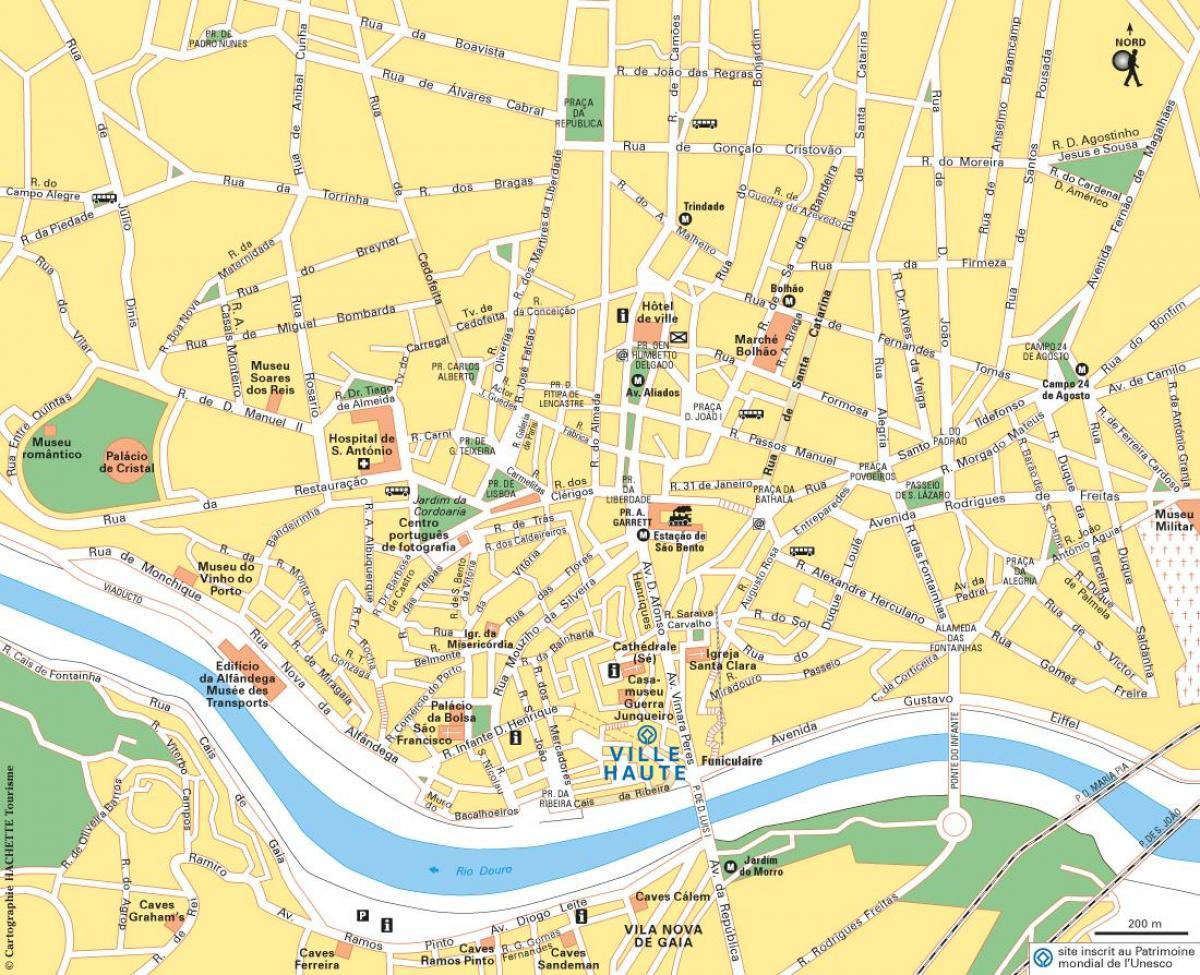 Kaart Van Porto Portugal Porto Op De Kaart Van Portugal Zuid